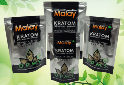 OPMS Silver Malay Kratom Capsules-BuyOPMSKratom